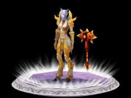 Female Draenei Paladin - WoW character 3d model