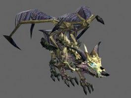 Zombie dragon 3d model