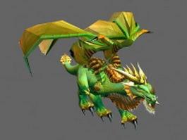 Green dragon 3d model