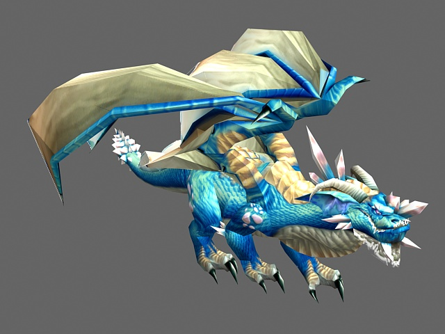 Blue Ice Dragon 3d Model 3ds Max Files Free Download