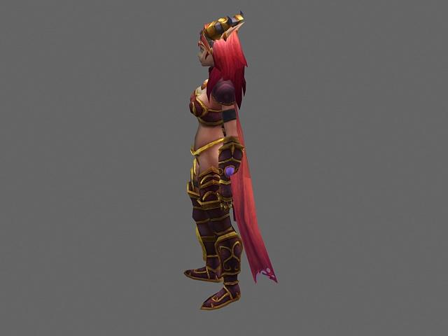 Blood elf female - WoW character 3d model - CadNav