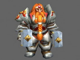 King Magni Bronzebeard - WoW character 3d model