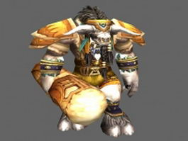 Cairne Bloodhoof - WoW character 3d model