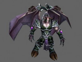 World Of Warcraft demon 3d model
