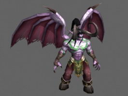 Illidan Stormrage - WoW character 3d model