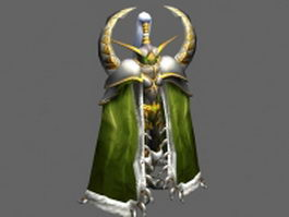 Maiev Shadowsong - WoW character 3d model