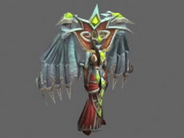 Mother Shahraz - WoW character 3d model