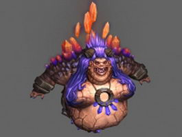 Female ogre - WoW character 3d model