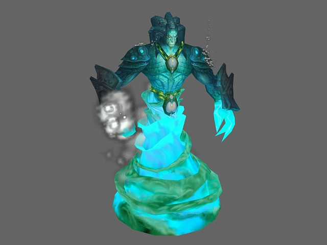 Water Elemental Wow Character 3d Model 3ds Max Files