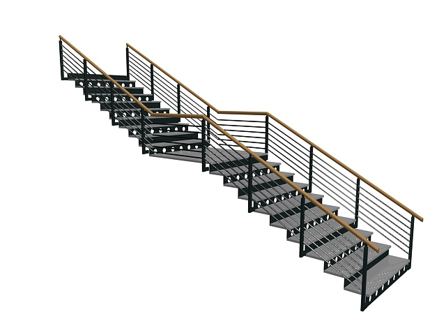 Outdoor Metal Stairs 3D Model