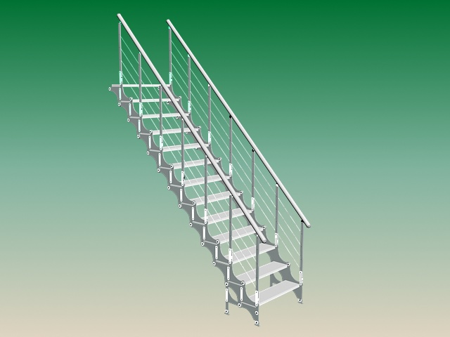 Exterior steel stairs 3d model 3ds max files free download for Exterior 3ds max model