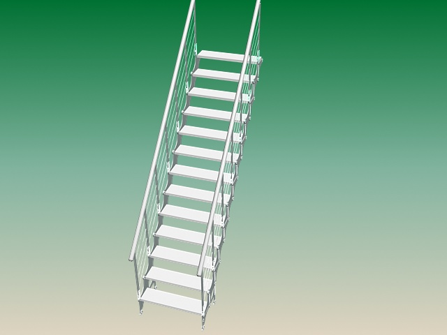 Exterior Steel Stairs 3d Model 3ds Max Files Free Download