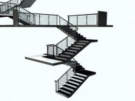 Exterior stair systems 3d model