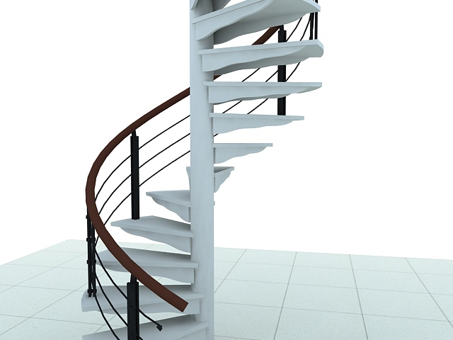 Spiral Staircase 3d Model 3ds Max Files Free Download