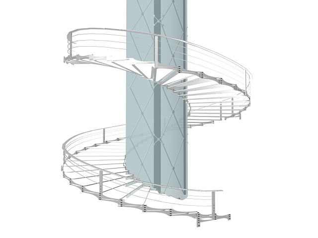 Large Spiral Staircase 3d Model 3ds Max Files Free