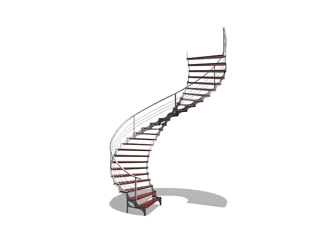Metal Spiral Stairs 3d Model 3ds Max Files Free Download Modeling 23548 On Cadnav