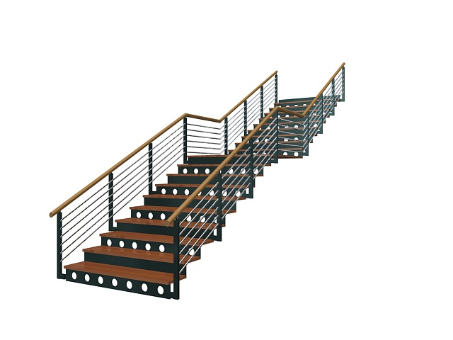 Industrial Metal Stairs 3d Model   CadNav
