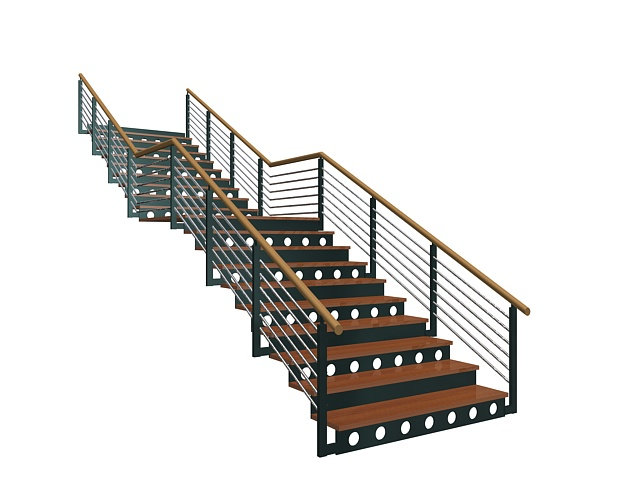 Ordinaire Industrial Metal Stairs 3d Model   CadNav