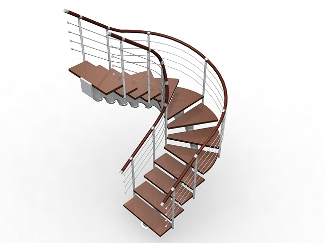 Merveilleux U Shaped Staircase 3D Model