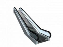 Mall escalator 3d model