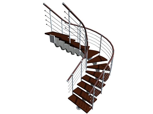 U Shaped Stairs 3d Model 3ds Max Files Free Download