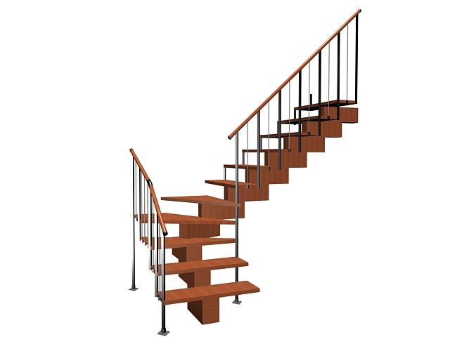 Quarter landing staircase 3d model 3ds max files free for Quarter landing staircase