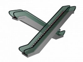 Crisscross escalator 3d model