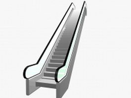 Modern escalator 3d model