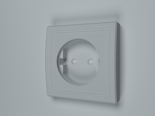 Schuko Socket 3d Model 3d Studio 3ds Max Files Free