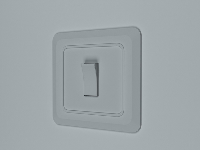 Toggle light switch 3d model 3D Studio,3ds max files free download ...