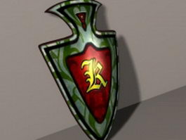 Shield of the dragon king 3d model