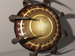 Spiked shield 3d model