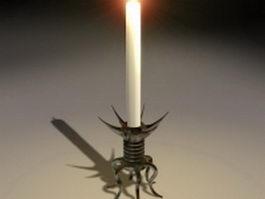 Old candlestick holders 3d model
