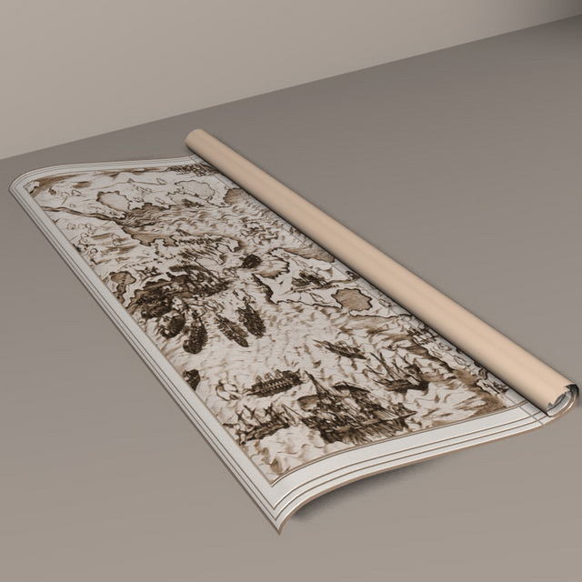 Ancient Paper Scroll 3d Model 3D Studio,Cinema 4D