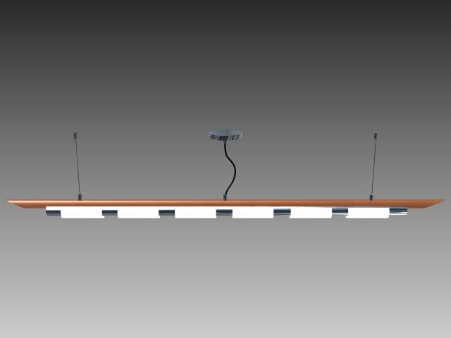 Hanging Fluorescent Lights 3d Model 3d Studio3ds Maxautocad