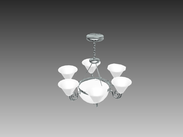 Hanging Chandelier Lamp 3d Model 3d Studio 3ds Max Autocad