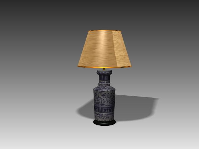 Antique Brass Desk Lamp