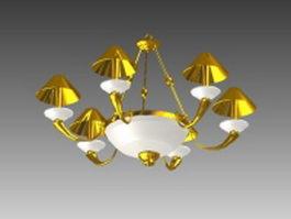 Gold brass chandeliers 3d model