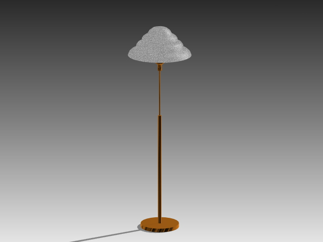 Simple floor lamp 3d model 3d studio3ds maxautocad for Floor lamp 3ds max free model