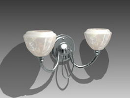 Double arm wall lamp 3d model