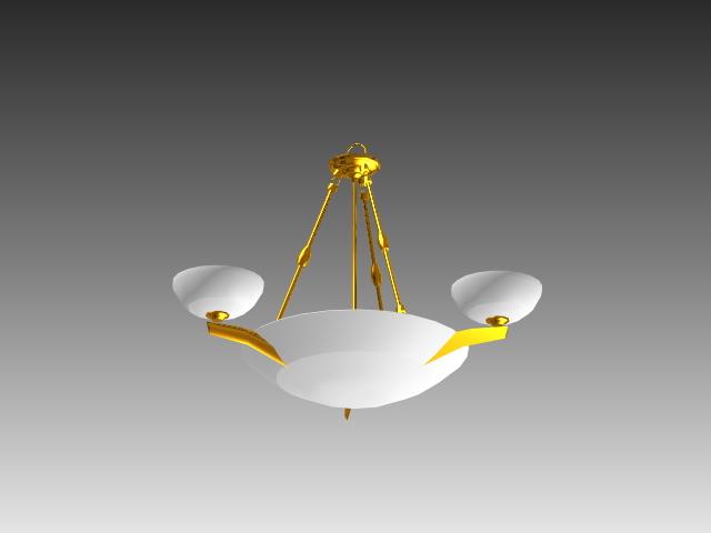 Bowl Pendant Light Fixture 3d Model 3d Studio 3ds Max