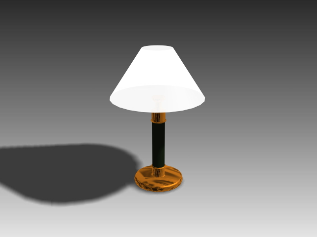 Modern brass table lamp 3d model 3d studio3ds maxautocad for Table lamp 3ds max