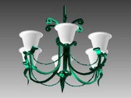 Metal chandeliers 3d model