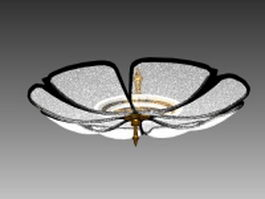 Flower ceiling light fixture 3d model