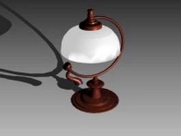 Vintage metal table lamp 3d model