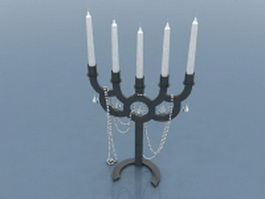 Candle holder decorations 3d model