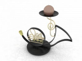 Saxophone candle holder 3d model