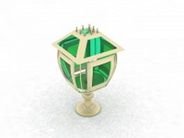 Windproof candle lantern 3d model