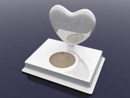Heart candle holder 3d model