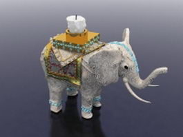 Elephant candle holder 3d model